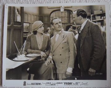 Friday the 13th, Gainsborough FOH Still, Jessie Mathews, Cyril Smith, '33 (h)